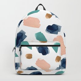 turquoise, navy, pink & gold Backpack