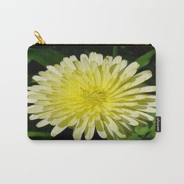 Pale Yellow Mary Bud Marigold With Garden Background  Carry-All Pouch