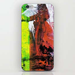 Getting Warmer // abstract painting iPhone Skin
