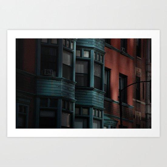 Apartment in Green Art Print