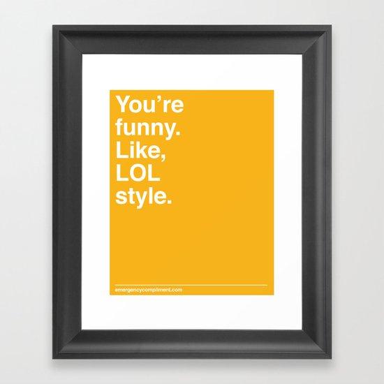 LOL Style Framed Art Print