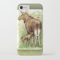 elk iPhone & iPod Cases featuring Elk by Natalie Berman