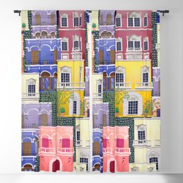 Puerto Rico architecture pattern in spring Blackout Curtain