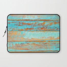 Blue Wood Texture Laptop Sleeve