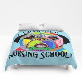 I Survived Nursing School Comforters