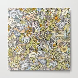 School doodles Metal Print