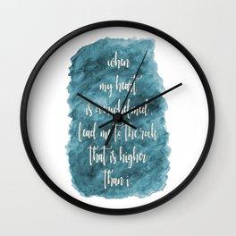 Lead Me - Teal Wall Clock