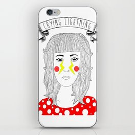 Crying Lightning by Arctic Monkeys inspired iPhone Skin