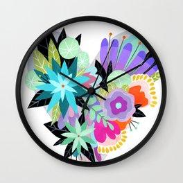 Love Blooms - Rainbow - text free Wall Clock