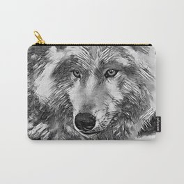 AnimalArtBW_Wolf_20170604_by_JAMColorsSpecial Carry-All Pouch