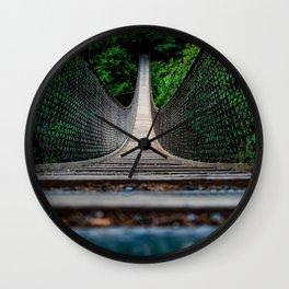 Suspension Bridge Wall Clock