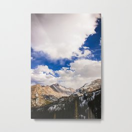 Rocky Mountain Range (Portrait) Metal Print