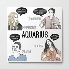 Aquarius- Bravostrology Series Metal Print