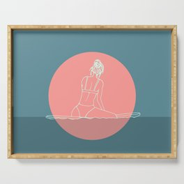 Sunset Surf Serving Tray