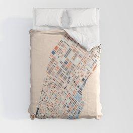 New York City Colorful Map-Manhattan Comforters