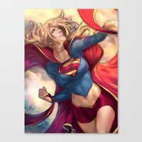karu kara Canvas Prints featuring Kara Soars by Reza Kabir