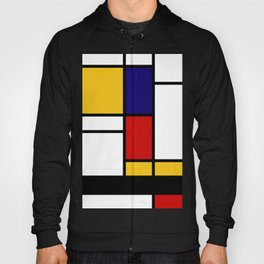 Prints, Mid Century Modern Wall Art, Large Abstract Geometric Wall Art, Mondrian Style Art, Minimali Hoody