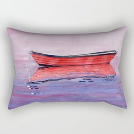 Red Dory Reflections Rectangular Pillow