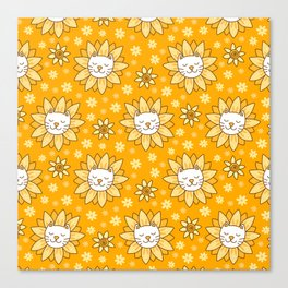 Sunflower Kittens Canvas Print