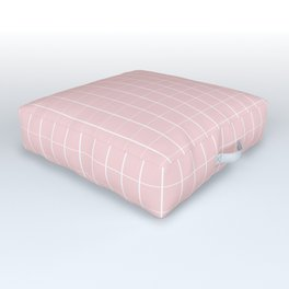 pattern line in pink dogwood Outdoor Floor Cushion