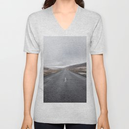 Iceland Road Unisex V-Neck