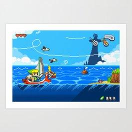 The Legend of Zelda: Wind Waker Advance Art Print