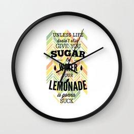 sugar water lemonade Wall Clock