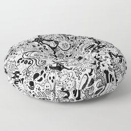 cute graphite Floor Pillow