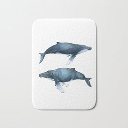 Blue whale art print, UNFRAMED, tropical poster, vacations, whale lover, underwater world, whale Bath Mat