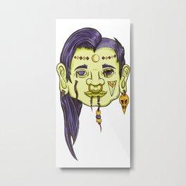 Shrunken Head Metal Print