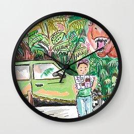 Dino Trouble Wall Clock