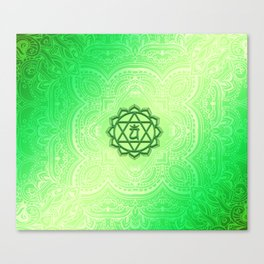 Heart Chakra by Golden Ascension Canvas Print