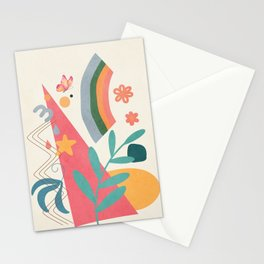 Abstract Summer 4 Stationery Cards