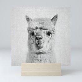 Alpaca - Black & White Mini Art Print