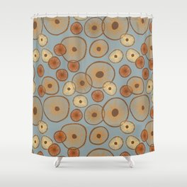 Mushroom Textures I Shower Curtain