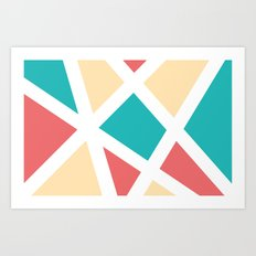 Geometric Painting Art Print