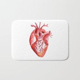 Human heart Bath Mat
