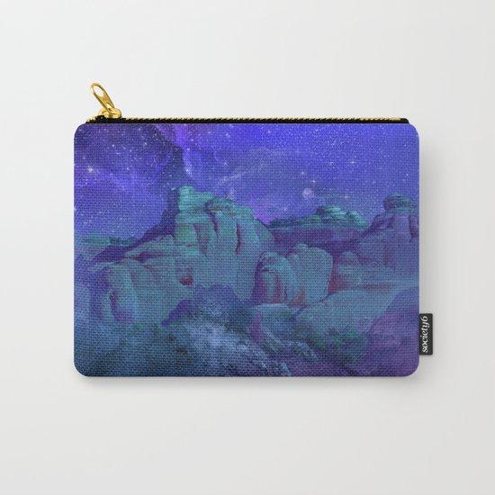 purple desert landscape Carry-All Pouch