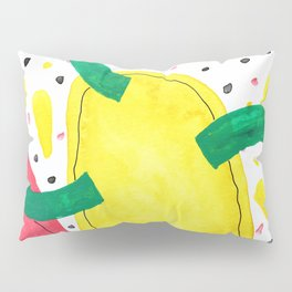 Abstract watercolor, shaped like a colorful virus Pillow Sham