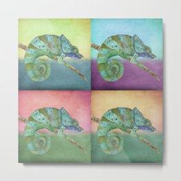 4 Chameleons Metal Print