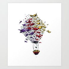 BIRD BALLON Art Print