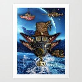 Steampunk Mechanics Art Print