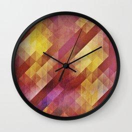 Fall pattern 2 Wall Clock