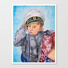 Little Captain Canvas Print