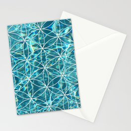 Flower of life in the water Stationery Cards