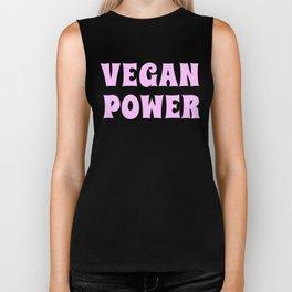 Vegan Power Vegetarian Workout Graphics Biker Tank