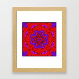 Red Lace on Purple Framed Art Print