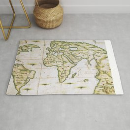 Vintage Map of The World (1566) Rug