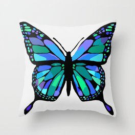 The Shattering Butterfly Throw Pillow