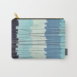 Blue Stripes Abstract Carry-All Pouch